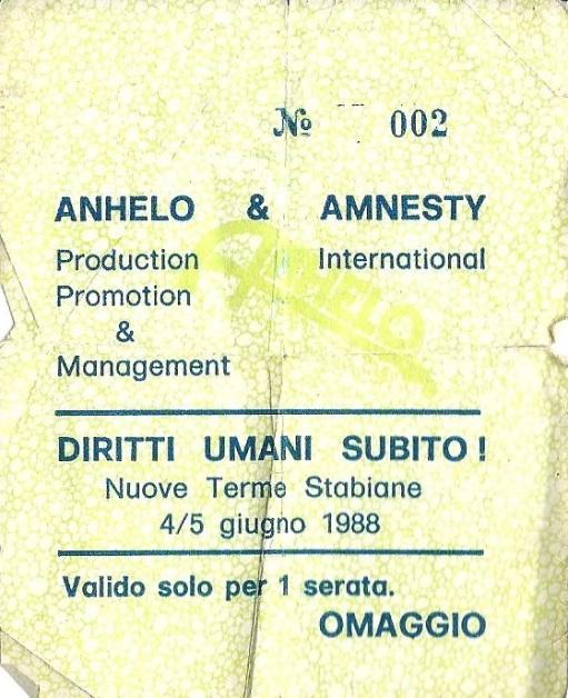 Nostro primo concerto omaggio con Amnesty International