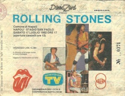 My ticket for Rolling Stones concert in Napoli 1982