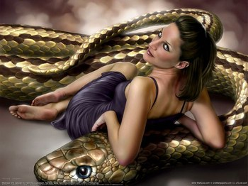 donna e serpente