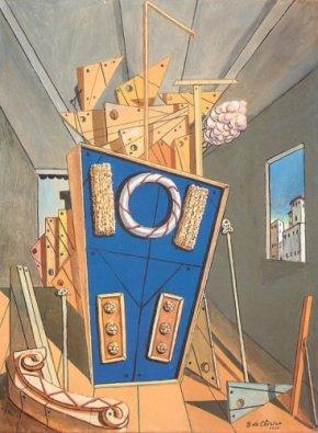 interno metafisico con biscotti 1968