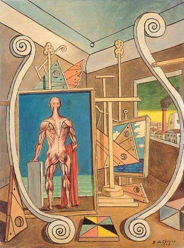 Interno metafisico con nudo anatomico, 1968