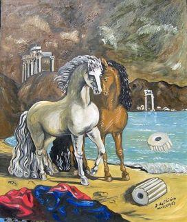divini cavalli di achille