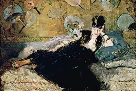 woman with fans (Nina de Callias) 1873