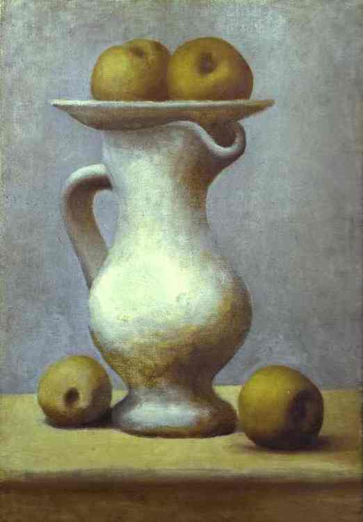 Still-Life with a Pitcher and Apples-1919